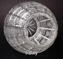 Vintage Bohemia Queen Lace Cut Crystal Vase 11