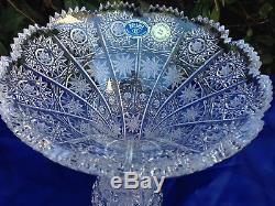 Vintage Bohemia Queen Lace Hand Cut 24% Lead Crystal Vase 8 Mint Nib