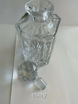 Vintage Bohemia Whisky Cut 24% Lead Crystal Whisky Decanter New Fast Free Ship