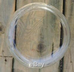 Vintage Clear Cut Glass and Acid Etch Glass Vase