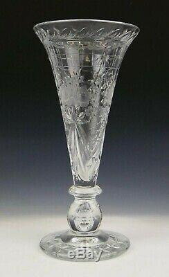 Vintage Continental Cut Crystal Floral Vase
