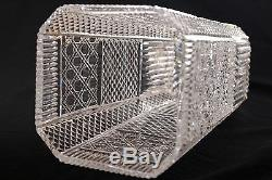 Vintage Crystal Cut Glass Vase12 Tall & 6 Acrossweights 9lbs