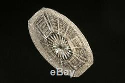 Vintage Crystal Flower Vase Cut To Clear Czech Bohemian