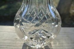 Vintage Cut Glass Vase 14 Thick Glass Frosted Flower on Either Side