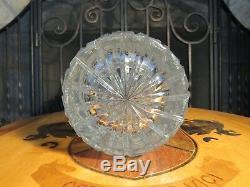 Vintage Czech Bohemian Hand Cut Queen Lace 57001 Crystal 24% Lead Glass 16 Vase