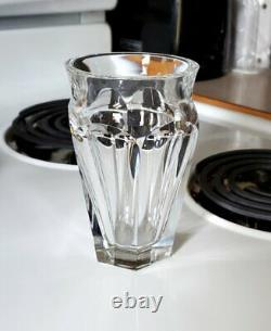 Vintage French Baccarat Cut Crystal Tallyrand Art Glass Bud Flower Vase 5-1/2