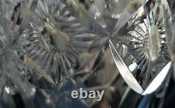 Vintage Large Thomas Webb England Cut Crystal Vase with Pagoda Art Numbered with Box