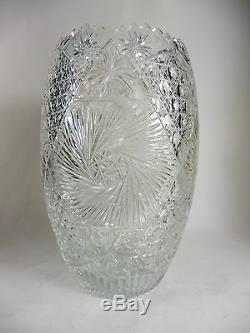 Vintage Lead Crystal Vase Cut Glass