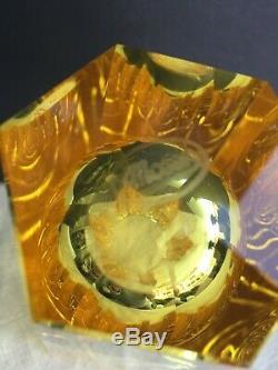 Vintage Moser Cut Crystal Vase