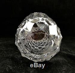 Vintage Orrefors Berit Johanson Rare Haga Cut Diamond Crystal Vase