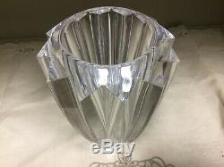 Vintage Orrefors Cut Lead Crystal 8.4 lbs Vase Numbered Signed Sweden 1960s