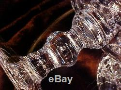 Vintage Ring Footed LARGE Crystal Cut Glass CHALICE Vase GORGEOUS Pattern