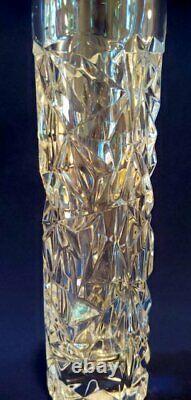 Vintage Tiffany & Co. 8 Hexagonal Rock Cut Crystal Bud Vase