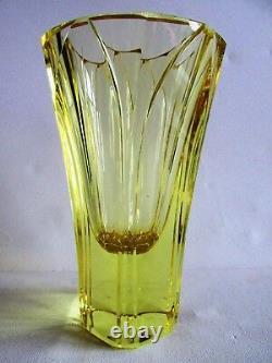Vintage VASE ZBS Glassworks Czech/Bohemian CUT CRYSTAL 1960s Jirina Pastrnkova