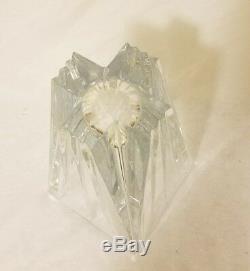 Vintage Very Heavy Crystal Cut Glass Vase Very Nice