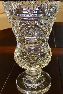 Vintage WATERFORD CRYSTAL Pedestal Vase 7 1/2 Master Cut Old MARK