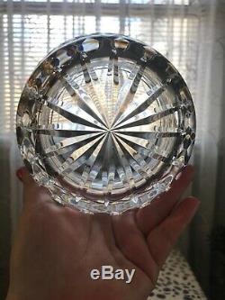 Vintage Waterford Crystal Bowl Vase Ice Bucket Diamond Cut Glandore 6.5