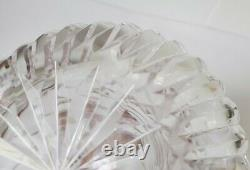 Vintage Waterford Crystal Cut Glass Vase 10 tall vertical cuts Maeve style