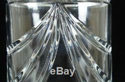 Vintage Waterford Cut Crystal Overture Flower Vase Cylinder Oval 10