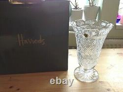Vintage cut glass Waterford Irish crystal vase never used with labels