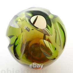 Vtg 50s WMF Cut Crystal Glass Vase Erich Jachmann 7½ 5,5lb 2,5kg Schliffdekor