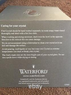 Waterford 11th Anniversary Handcrafted Diamond and Wedge Cut crystal vase 12