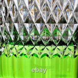 Waterford Alana Vase Lime Green Cut to Clear Cased Crystal 14 New No Box