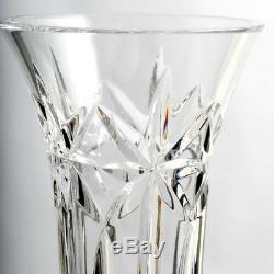 Waterford Balmoral Cut Crystal Vase Stars Panel Cross Cut Irish Art Glass Vintag