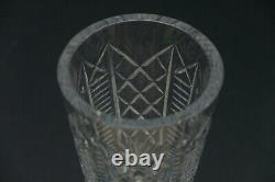 Waterford Clare Cut Crystal Glass 8 Flower Vase Made in Ireland