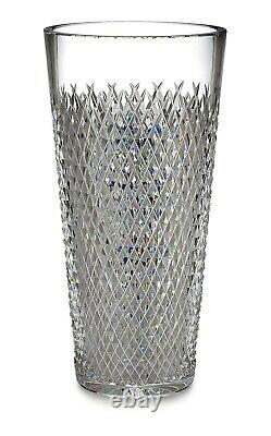 Waterford Crystal 10 Alana Vase Retired NEW With Tags! Diamond Cut Cylinder