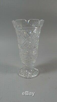 Waterford Crystal 7 Master Cut Flower Vase 17.8 cm Tall. Toothed & Footed
