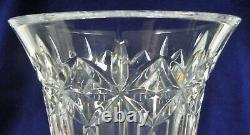Waterford Crystal Balmoral Flower Vase, 12 by 7 Footed, Cut Glass, VG