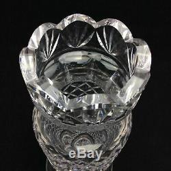 Waterford Crystal Clara Vase Signed Cut Ireland Glass 8 1/2