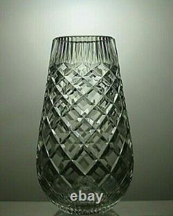 Waterford Crystal Cut Glass Vase Signed 7 Tall