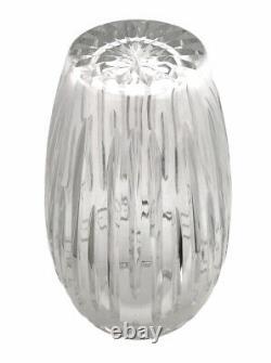 Waterford Crystal Dolmen Large Floral Vase 13 in Braid Star Cuts