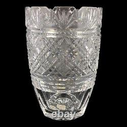 Waterford Crystal Giftware Vase Clear Fan Cut 7 7/8