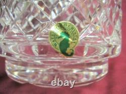 Waterford Crystal Glass ALANA 10 Cylinder Vase Diamond Cut Signed & Sticker
