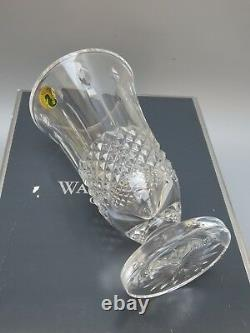 Waterford Crystal Happy Birthday Cut Footed Vase Original Boxed 6 7/8 Tall