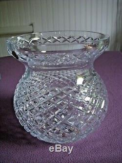 Waterford Crystal Heritage 9 Diamond & Wedge Cut Bouquet Vase BRAND NEW withTAGS