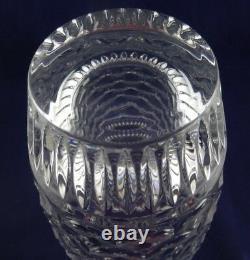 Waterford Crystal Honey Honeycomb & Wedge Cut 11 Vase