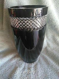 Waterford Crystal John Rocha 12 Black (Hand Cut) Vase
