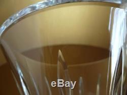 Waterford Crystal Large 10 Cut Glass Flared Lismore Statement Vase Signed