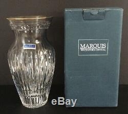 Waterford Crystal Marquis Hanover Gold 8 Vase In Box With Labels Intricate Cuts