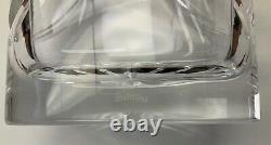 Waterford Crystal Overture Vase Vintage 10 Oval Swag Wedge Cuts Flower Signed