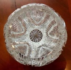 Waterford Crystal Reflections Vase Huge Very Beautiful With Deep Bold Cuts
