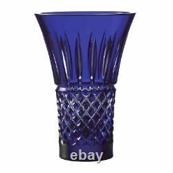 Waterford Crystal Treasures of The Sea Tramore 8 Vase Flared Blue Diamond Cut