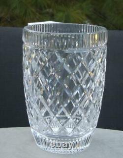 Waterford Crystal Vase Diamond Cut Cylinder 8 Tall