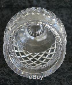 Waterford Cut Crystal COMERAGH CUT FOOTED VASE 6.5 Tall