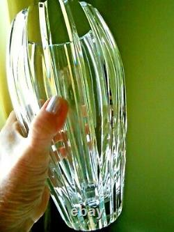 Waterford Cut Crystal Large Vase Palladia 9 Flower Hand Cut in Slovenia