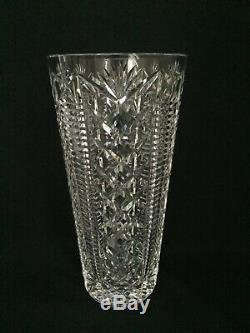 Waterford Ireland Clare Cut Crystal Glass 12 Flower Vase Stunning